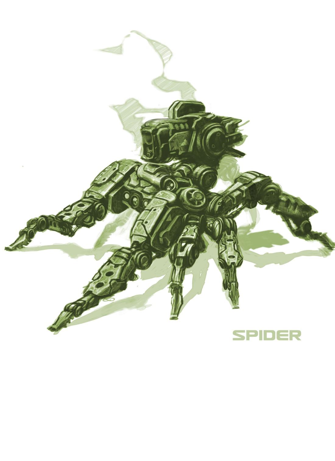 Gary_Freeman_Concept_Art_Sketch_Mech_Spider