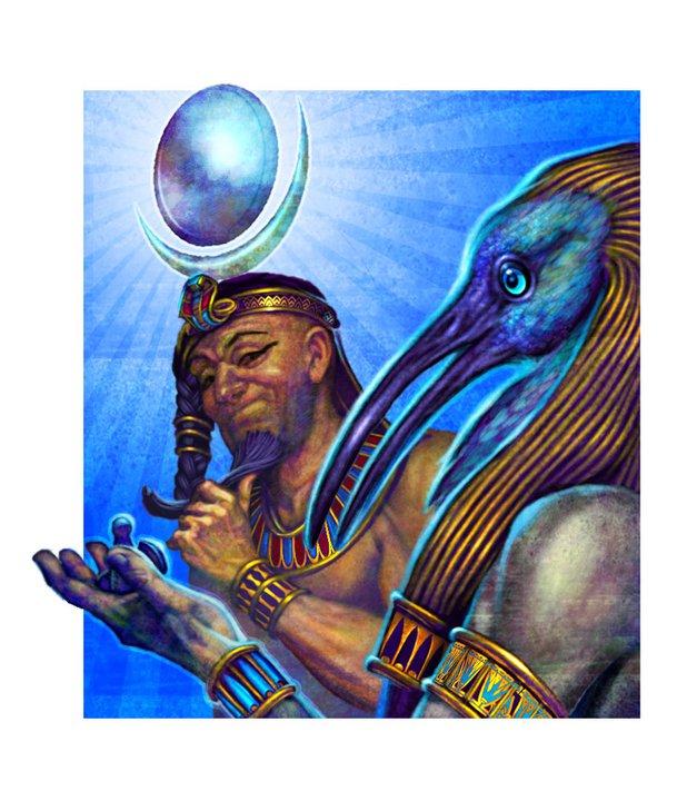 Gary_Freeman_Fantasy_Illustration_Thoth_Myth
