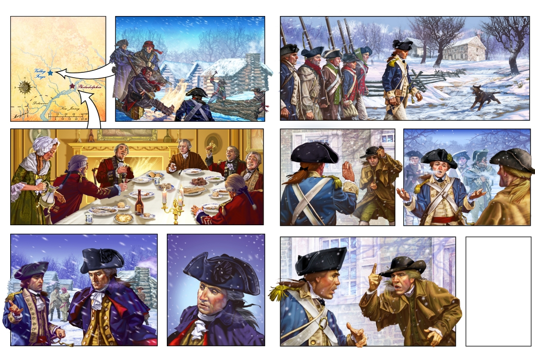Gary_Freeman_Graphic_novel_Art_History_Valley-Forge